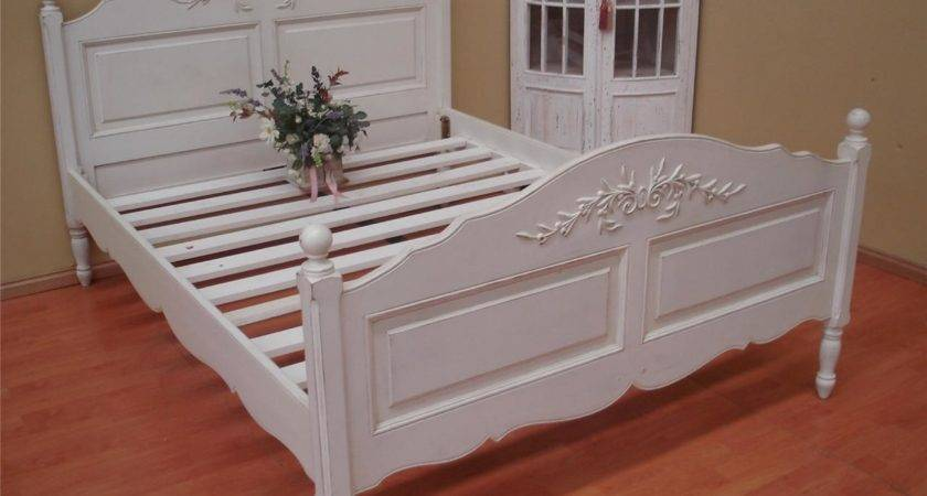 French Provincial Style Shabby Chic Queen Bed Ebay