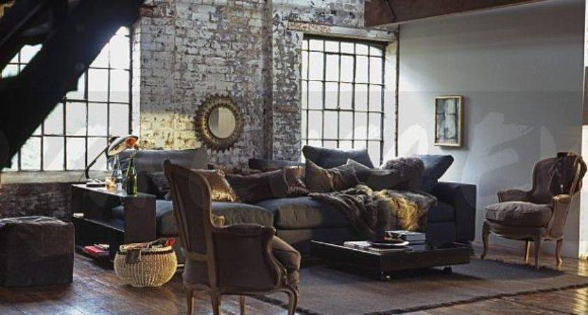 French Style Armchairs Wooden Flooring Loft