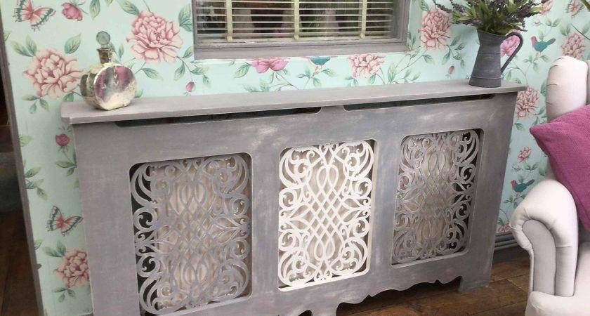 French Style Shabby Chic Radiator Cabinet Cover