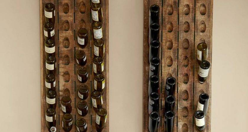 French Wine Bottle Riddling Rack Contemporary