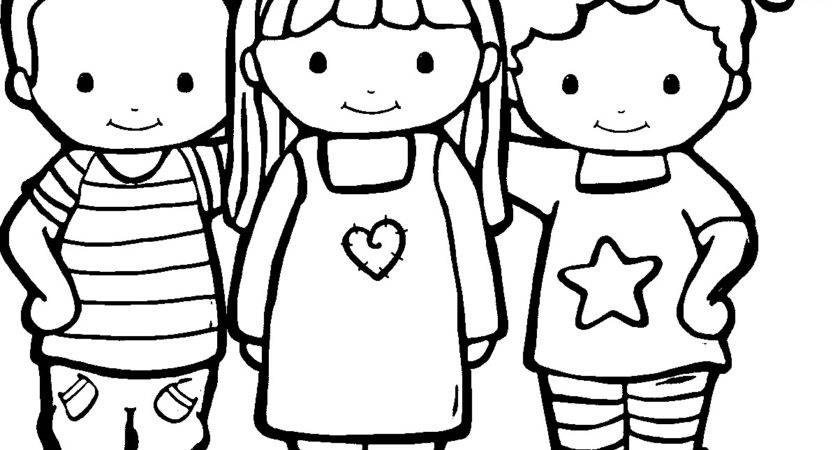 Friendship Coloring Pages Best Kids