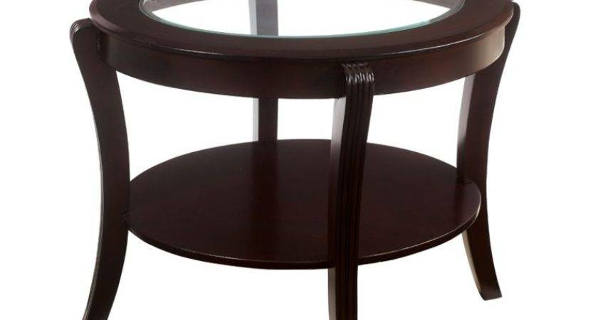 Furniture America Stemplez Glass Top End Table