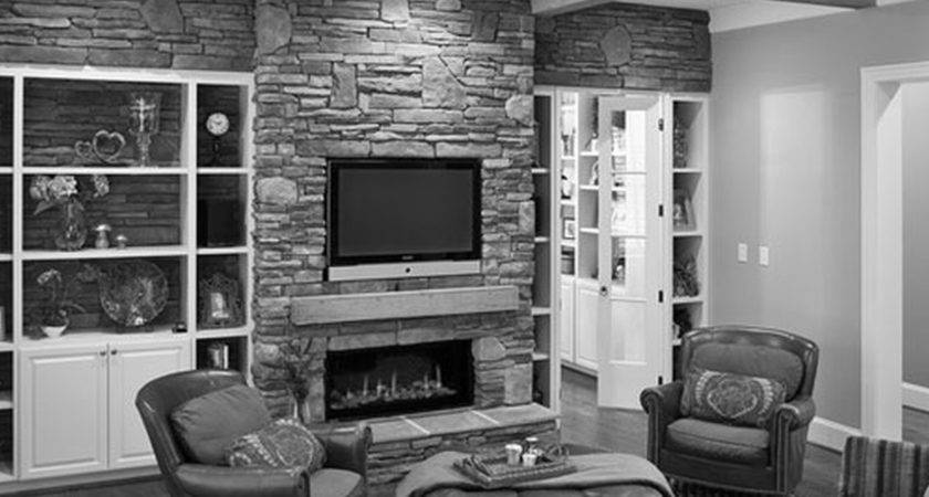 Furniture Fireplace Designs Above Stone Mantel