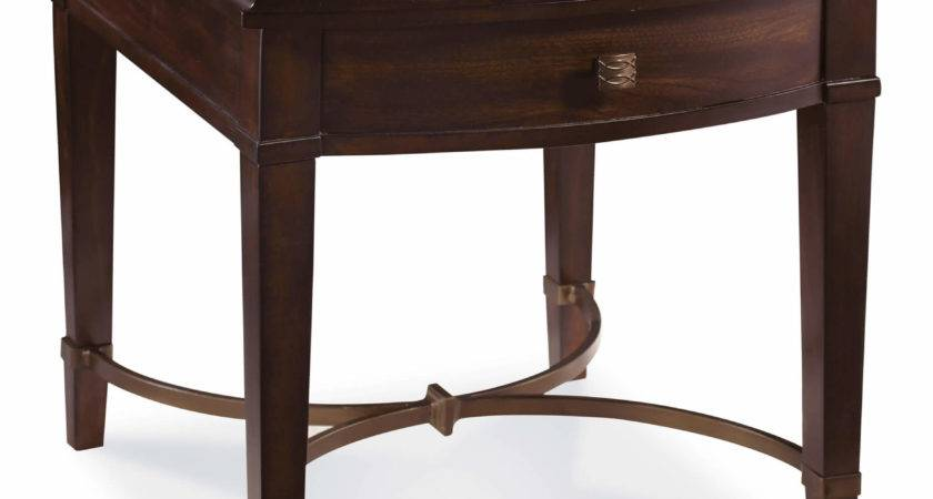 Furniture Intrigue Flip Top End Table Cola Finish