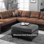 Furniture Microfiber Couch Brown Modern Sofa