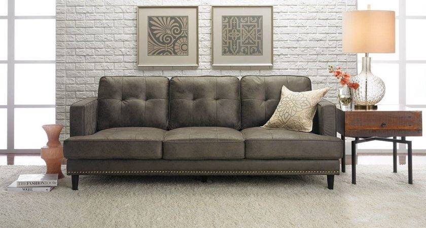 Furniture Mid Century Sofa Grey Carpet White