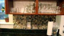 Garden Stone Kitchen Backsplash Tutorial