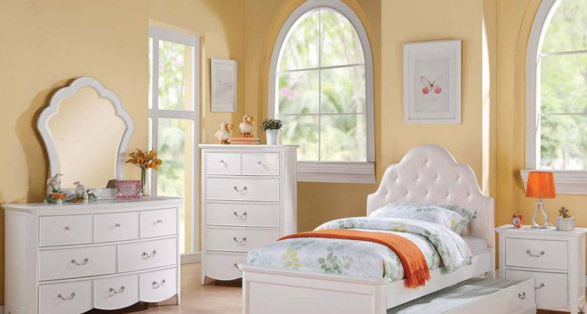 Girl White Bedroom Set Cecilie Acme Furniture
