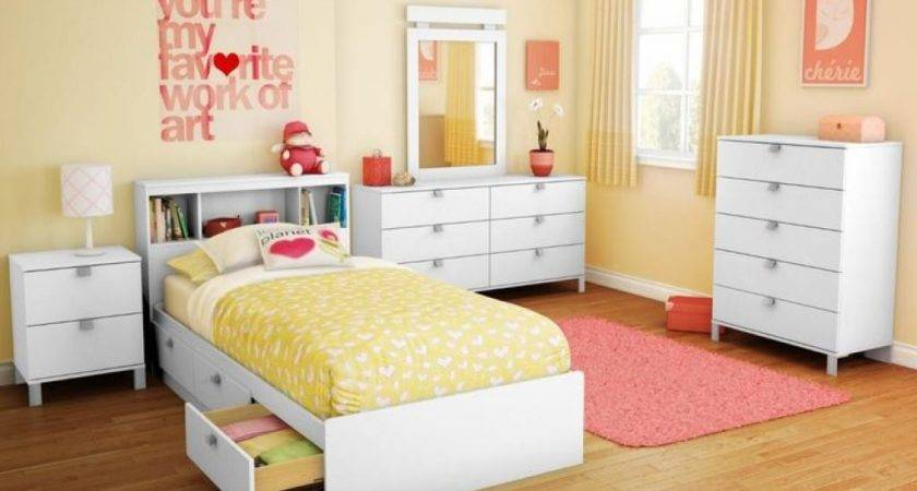 Girls White Bedroom Furniture Warm Theme Colors