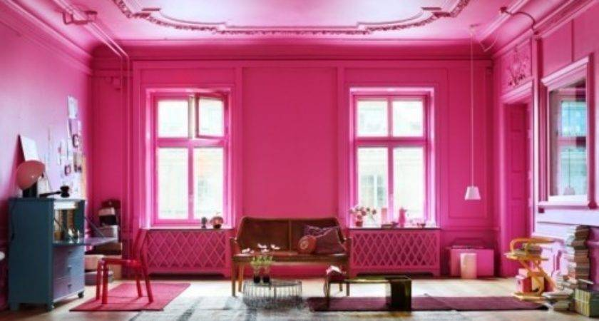 Girly Interior Design Living Room Pink