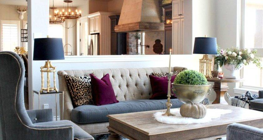 Glam Cozy Fall Living Room House Silver Lining