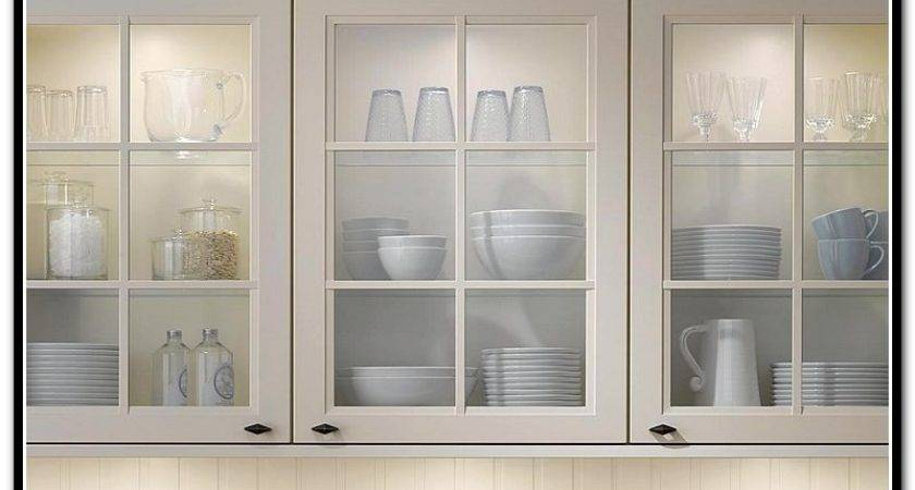 Glass Door Wall Cabinet Kitchen Home Design Ideas