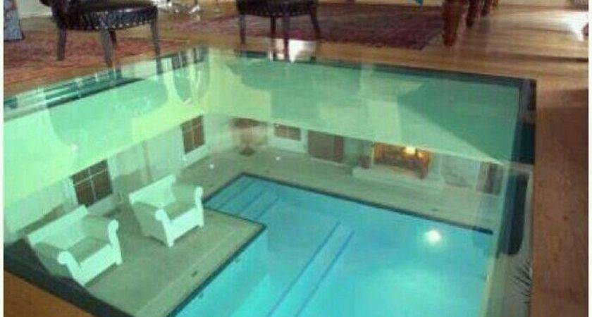 Glass Floor Look Pool Under Home