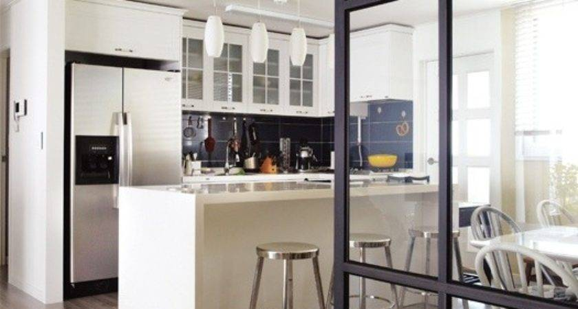 Glass Partition Wall Kitchen Dining Area Home Decor