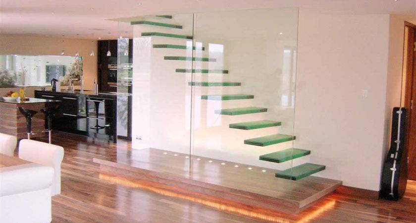 Glass Staircase Home Building Furniture Interior