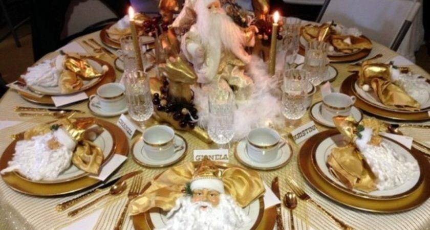 Gold Christmas Table Decorationschristmas