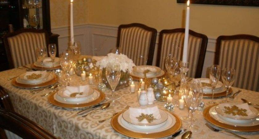 Gold Silver Christmas Table Settings Designcorner