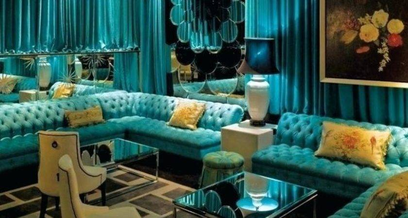 Gold Turquoise Living Room Dec Modern Home Design Ideas