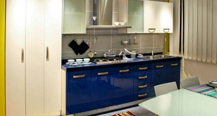 Good Blue Cabinets Modern Kitchen