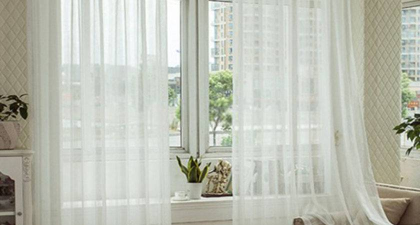 Good Choice White Curtains Living Room Home Decorations