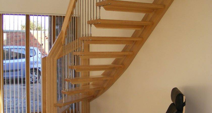 Grandiose Wooden Steps Modern Staircase Added Woods Handle