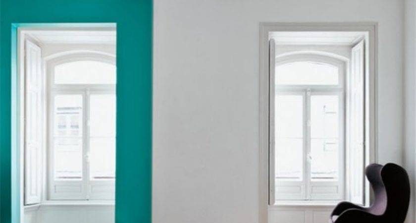 Graphic Wall Color Block Teal Interior Collective