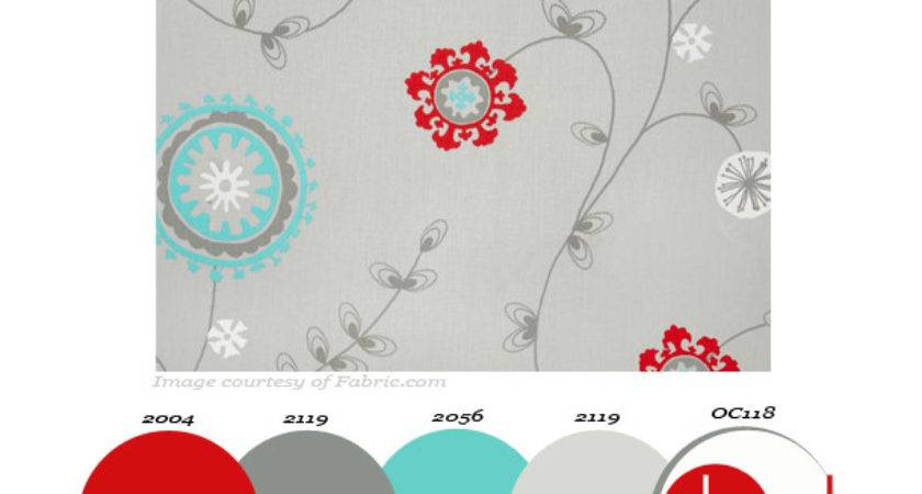 Gray Fabric Red Turquoise Flowers Archives