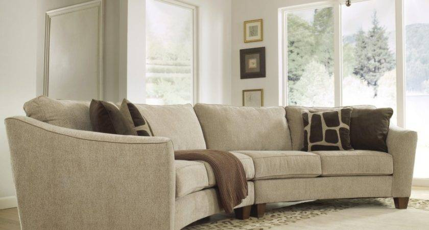 Gray Fabric Sofa Brown Cushions Plus Short