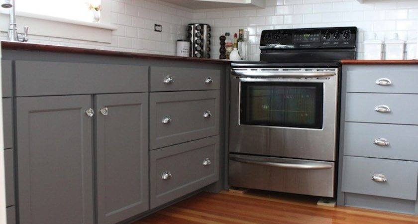 Gray Kitchen Cabinet Paint Colors Transitional