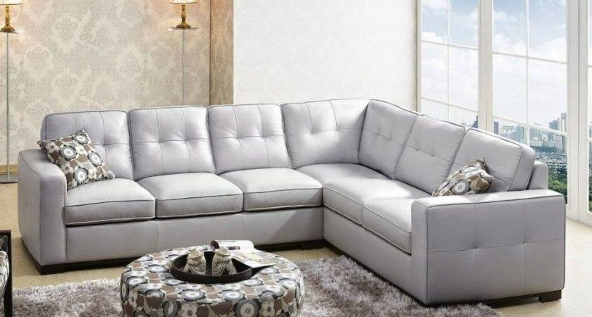 Gray Leather Sectional Sofas Using