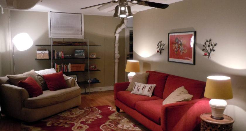 Gray Red Living Room Dgmagnets