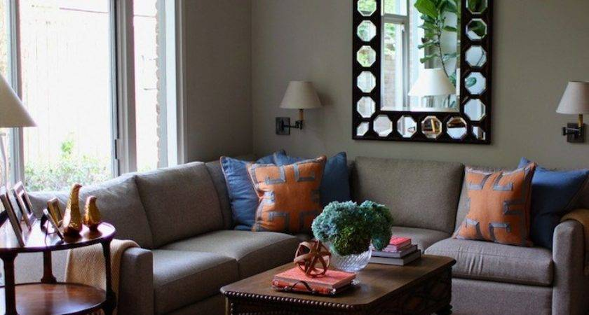 Gray Sectional Contemporary Living Room Kristen Nix