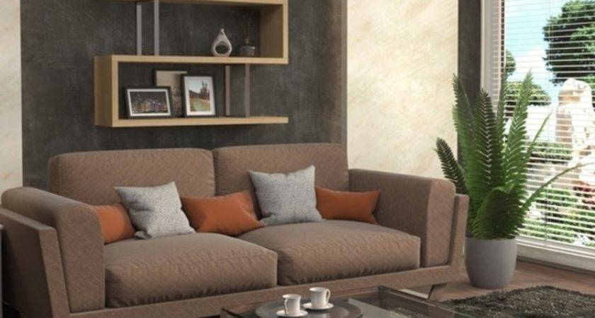 Gray Sectional Living Room Design Furniture Interior