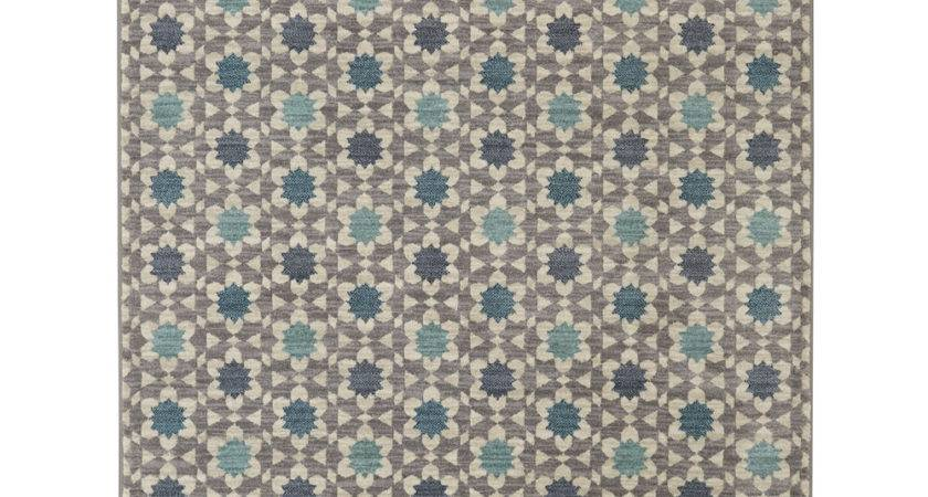 Gray Turquoise Lattice Tiles Rug Zulily
