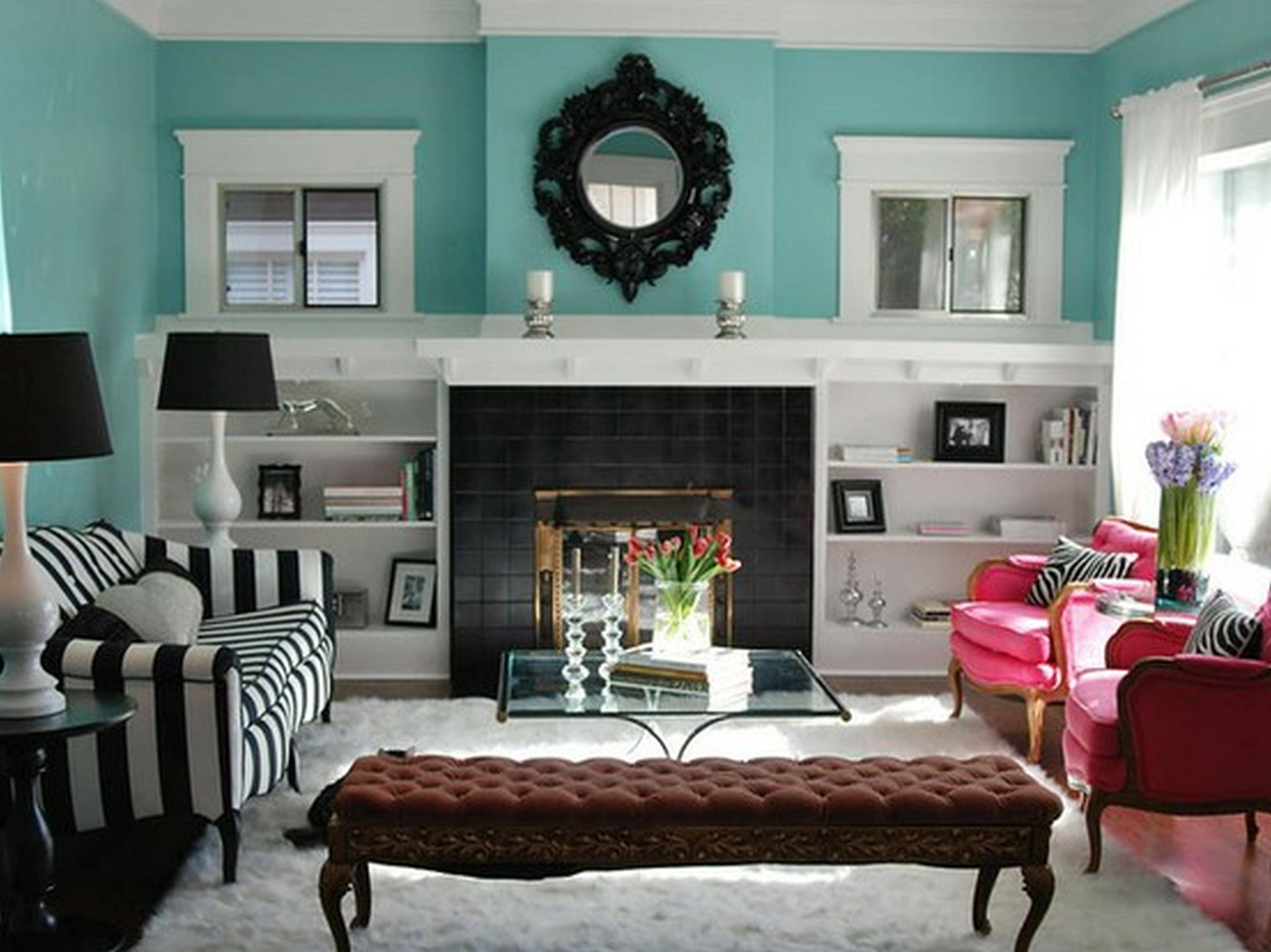 Gray Turquoise Living Room Decorating Ideas Homes Decor