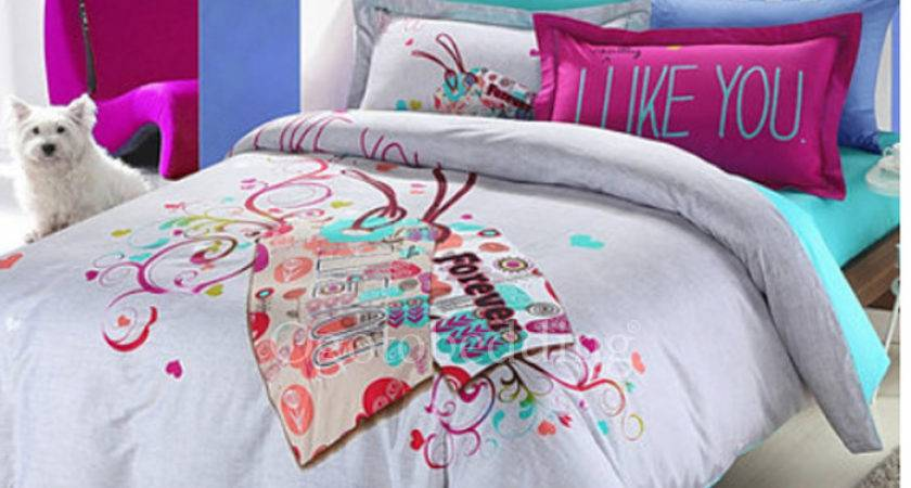 Gray Unique Trendy Teen Patterned Duvet Covers King