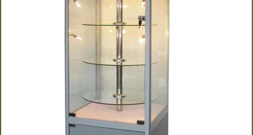Gray Wooden Cabinet Side Glass Doors Also Circle