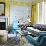 Gray Yellow Room Contemporary Living Kelly
