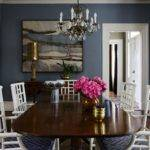 Great Brown Blue Dining Room Concerning Remodel