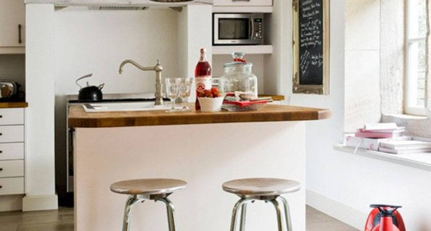 Great Furniture Solution Breakfast Bar Small Kitchen