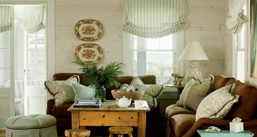 Green Brown Living Room Myhomeideas Other Metro