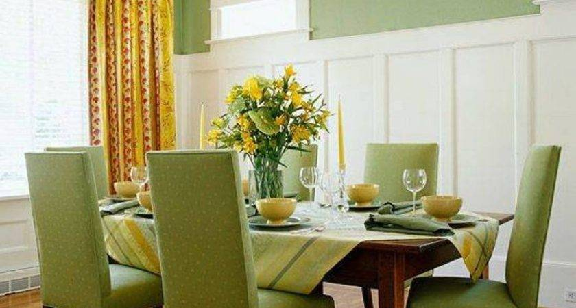 Green Dining Room Colors Accent Actual Home