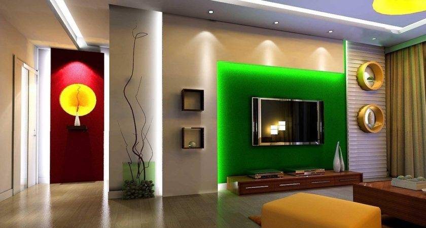 Green Wall Living Room Design House