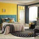 Green Yellow Color Scheme Bedroom Painting