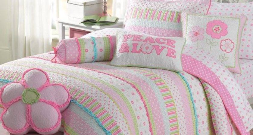 Greta Pastel Cotton Piece Quilt Set Shipping