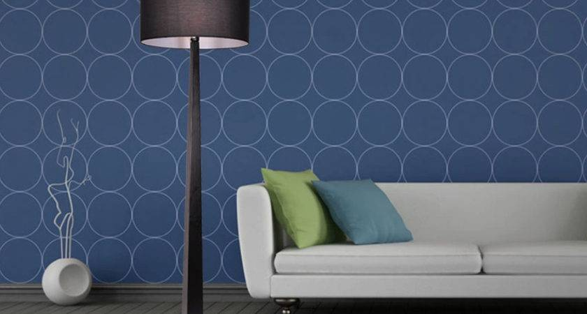 Grey Floor Lamp Blue Walls White Sofa New Home