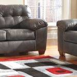 Grey Leather Living Room Furniture Home Marcella Gray