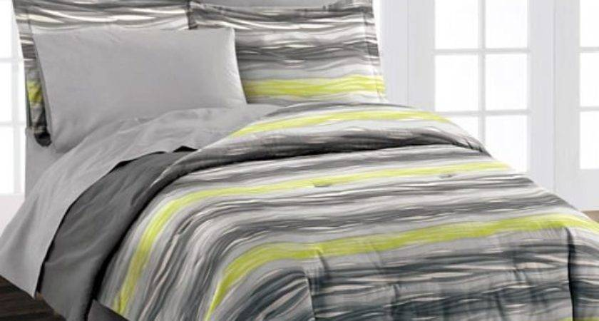 Grey Lime Green Bedding Reference