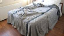 Grey Linen King Bedspread Coverlet Blanket Matching
