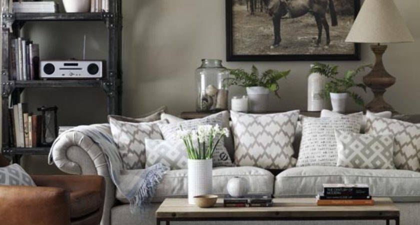 Grey Living Room Chesterfield Sofa Industrial